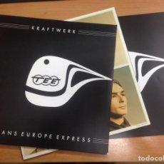 Discos de vinilo: LP KRAFTWERK/ TRANS EUROPE EXPRESS REMASTERIZADO EN 180 GRAMOS CON LIBRETO DE LUXE . Lote 148037294