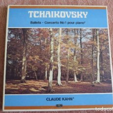 Discos de vinilo: HAIKOVSKY BALLETS -CONCERTO N. 1 POUR PIANO CLAUDE KAHN CAJA 3 LP. Lote 148040034