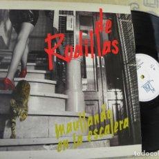 Discos de vinilo: DE RODILLAS -MAULLANDO EN LA ESCALERA -LP 1988. Lote 148059650