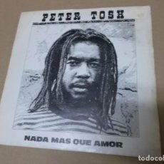 Discos de vinilo: PETER TOSH (SN) NOTHING BUT LOVE AÑO 1981 - PROMOCIONAL. Lote 148060926