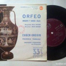 Discos de vinilo: ORFEO CON RCA VICTOR ORCH + EUGEN ONEGIN - TCHAIKOVSKY - SINGLE 33 1961 - RCA. Lote 148062670