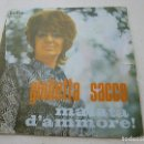 Discos de vinilo: GIULETTA SACCO -MALATA DAMMORE -SINGLE -N. Lote 148068570
