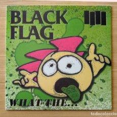Discos de vinilo: BLACK FLAG - WHAT THE... 12'' LP NUEVO Y PRECINTADO - HARDCORE PUNK. Lote 148080178