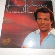 Discos de vinilo: JULIO IGLESIAS - 24 EXITOS DE ORO - DOBLE LP CARPETA ABIERTA 1979. Lote 148082518