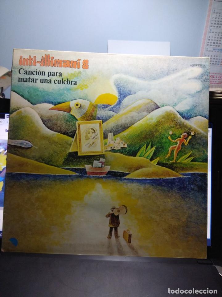 LP INTI-ILLIMANI 8 : CANCION PARA MATAR UNA CULEBRA ( FIRMADO POR LOS COMPONENTES DEL GRUPO ) (Música - Discos - LP Vinilo - Grupos y Solistas de latinoamérica)