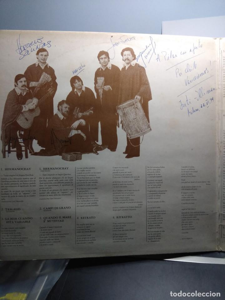 Discos de vinilo: LP INTI-ILLIMANI 8 : CANCION PARA MATAR UNA CULEBRA ( FIRMADO POR LOS COMPONENTES DEL GRUPO ) - Foto 3 - 148088578