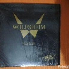 Discos de vinilo: WOLFSHEIM - IT'S NOT TOO LATE (DON'T SORROW) MAXI SINGLE. EDICIÓN ALEMANA. 1992. Lote 148091366