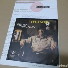 Discos de vinilo: PHIL EVERLY (SN) BETTER THAN NOW AÑO 1976 – CON HOJA PROMOCIONAL. Lote 148098330