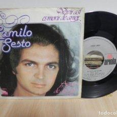 Discos de vinilo: CAMILO SESTO. VIVIR ASI ES MORIR DE AMOR / AGUA DE DOS RIOS.. Lote 148099510