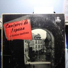 Discos de vinilo: LP ANTONIO MOLINA : CANTARES DE ESPAÑA ( EDICION CUBA ). Lote 148100030