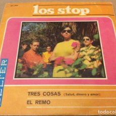 Dischi in vinile: LOS STOP. TRES COSAS (SALUD, DINERO Y AMOR)/ EL REMO. BELTER 1967.. Lote 148102298