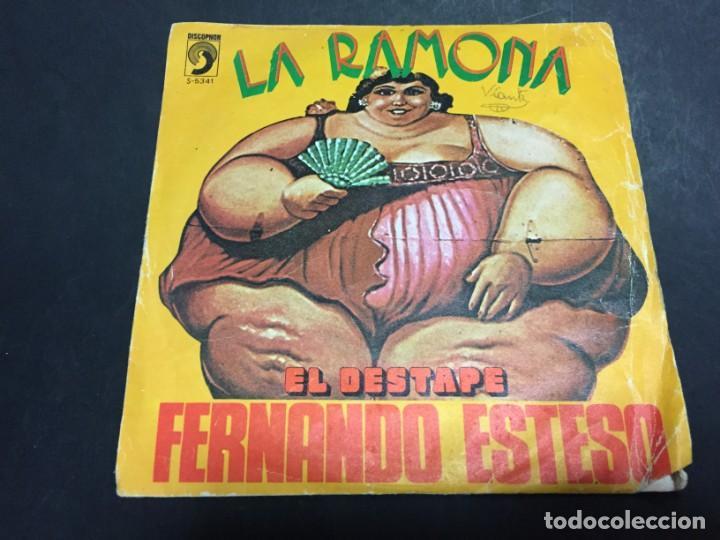 Discos de vinilo: FERNANDO ESTESO LA RAMONA EL DESTAPE SINGLE VINILO - Foto 2 - 148115810