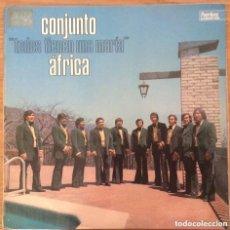 Discos de vinilo: CONJUNTO AFRICA TODOS TIENEN UNA MARIA LP ESPAÑA PEERLESS EXCELENTE. Lote 148136530