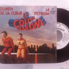 Discos de vinilo: COLITIS VASILONA SINGLE COLIMBIA PROMO LABEL BLANCO EXCELENTE CONDICION. Lote 148137506
