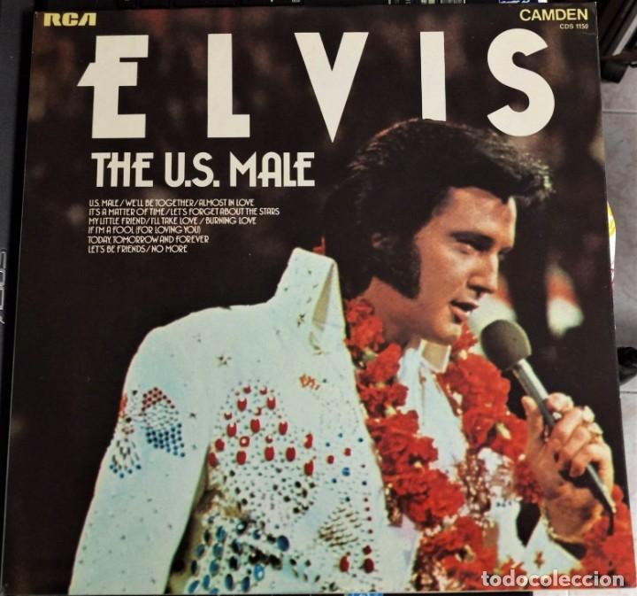 ELVIS PRESLEY - THE U.S. MALE - LP / RCA CAMDEN UK - PUBLICADO 1975 (Música - Discos - LP Vinilo - Rock & Roll)