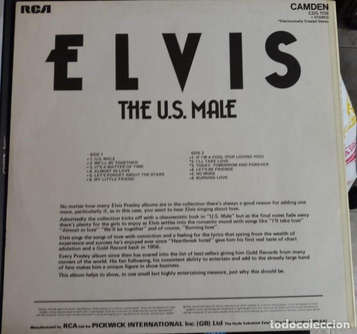 Discos de vinilo: ELVIS PRESLEY - THE U.S. MALE - LP / RCA CAMDEN UK - PUBLICADO 1975 - Foto 2 - 147163194