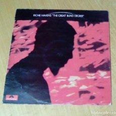 Discos de vinilo: RICHIE HAVENS - THE GREAT BLIND DEGREE (LP 1971, POLYDOR 2480-049). Lote 148142830
