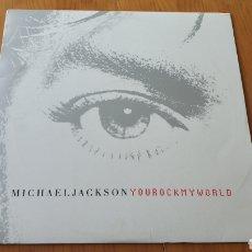 Discos de vinilo: YOU ROCK MY WORLD USA PROMO MICHAEL JACKSON. Lote 148143165