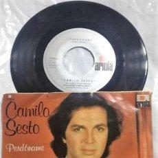Discos de vinilo: CAMILO SESTO - PERDÓNAME / DÓNDE ESTÉS, CON QUIÉN ESTÉS DEL AÑO 1980 MÉXICO (RARO). Lote 148143178