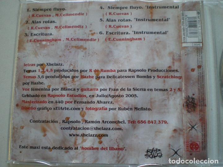 Discos de vinilo: XHELAZZ - Siempre Fluyo +2 - CD SINGLE RAP SOLO 2005 // HARDCORE HIP HOP RAP - Foto 3 - 148154430