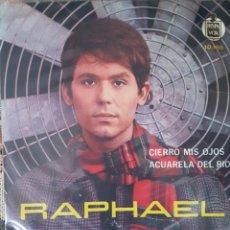 Discos de vinilo: RAPHAEL SINGLE SELLO HISPAVOX EDITADO EN CHILE. Lote 148158442