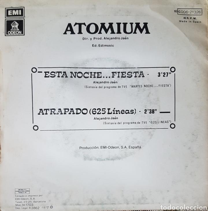 Discos de vinilo: ATOMIUM SINGLE SELLO EMI-ODEON AÑO 1977 ALEJANDRO JAEN. - Foto 2 - 148159769