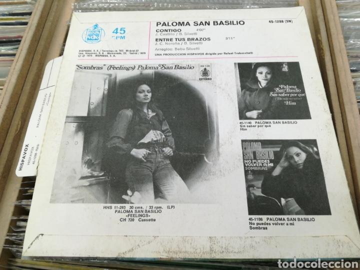 Discos de vinilo: Paloma san basilio single contigo 1975 - Foto 2 - 148162708