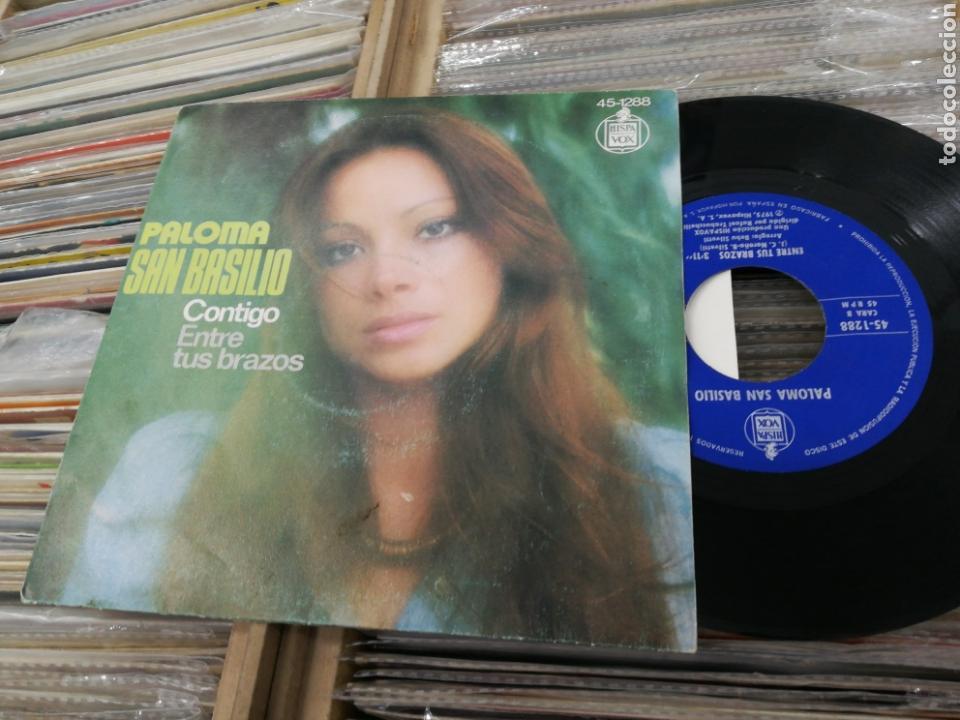 PALOMA SAN BASILIO SINGLE CONTIGO 1975 (Música - Discos - Singles Vinilo - Solistas Españoles de los 70 a la actualidad)