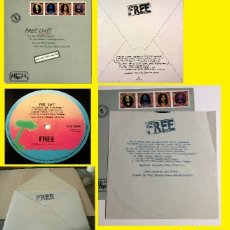 Discos de vinilo: FREE / FREE LIVE !! ALL RIGHT NOW 71 !! EDIC UK CON SOLAPA SOBRE + INSERT !! PAUL KOSSOFF !! EX. Lote 148162834