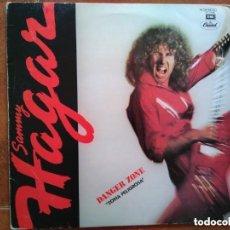Discos de vinilo: SAMMY HAGAR - DANGER ZONE (LP). Lote 148168938