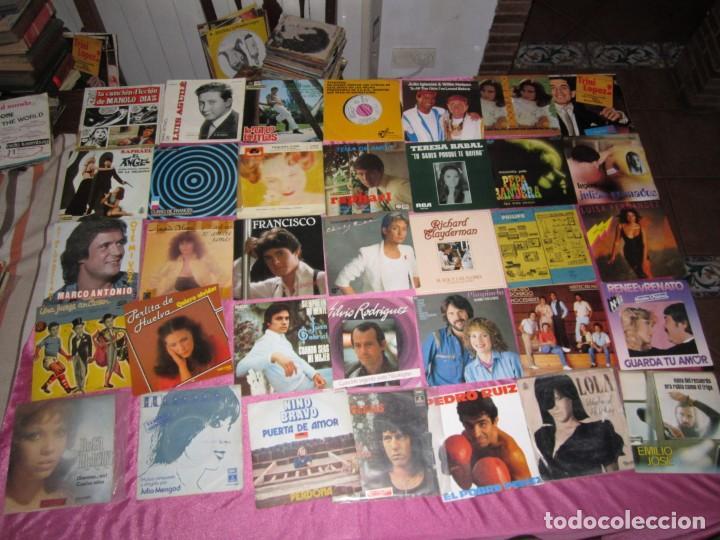 Discos de vinilo: LOTE DE 35 DISCOS SINGLES Y EP BRUNO LOMAS RAPHAEL CASSEN PERLITA DE HUELVA - Foto 3 - 148171030
