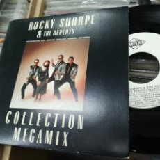 Discos de vinilo: ROCKY SHARPE SINGLE PROMOCIONAL COLLECTION MEGAMIX ESPAÑA 1990. Lote 148174084