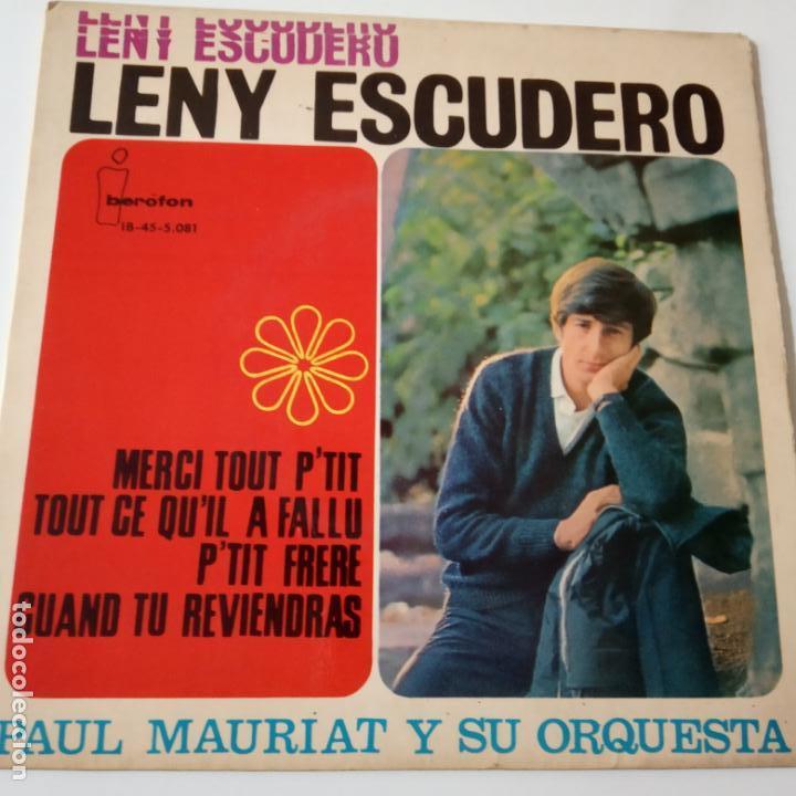 LENY ESCUDERO- MERCI TOUT P´TIT- FRENCH EP 1964. (Música - Discos de Vinilo - EPs - Canción Francesa e Italiana)