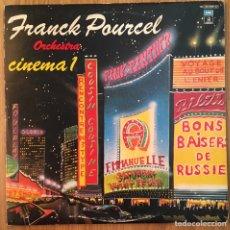 Discos de vinilo: CINEMA 1 FRANCK POURCEL ORCHESTRA DOBLE DISCO EDIC ESPAÑA ODEON 1979. Lote 148184794