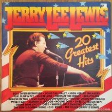 Discos de vinilo: JERRY LEE LEWIS 20 GREATEST HITS LP VINILO EXCELENTE CONSERVACION. Lote 148185698