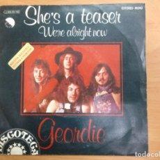 Discos de vinilo: SINGLE PROMOCIONAL GEORDIE CANTANTE DE AC/DC BRIAN GIBSON EDITADO EN ESPAÑA. Lote 148189018