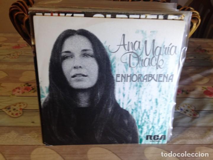 ANA MARIA DRACK - ENHORABUENA / PROMOCIONAL OCASIÓN SINGLE VINILO (Música - Discos - Singles Vinilo - Solistas Españoles de los 70 a la actualidad)