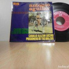 Discos de vinilo: ANTONIO AGUILAR: PRISIONERO DE TUS BRAZOS / EL 7 COPAS / CABALLO ALAZÁN LUCERO / CUATRO COPAS. . Lote 148192462