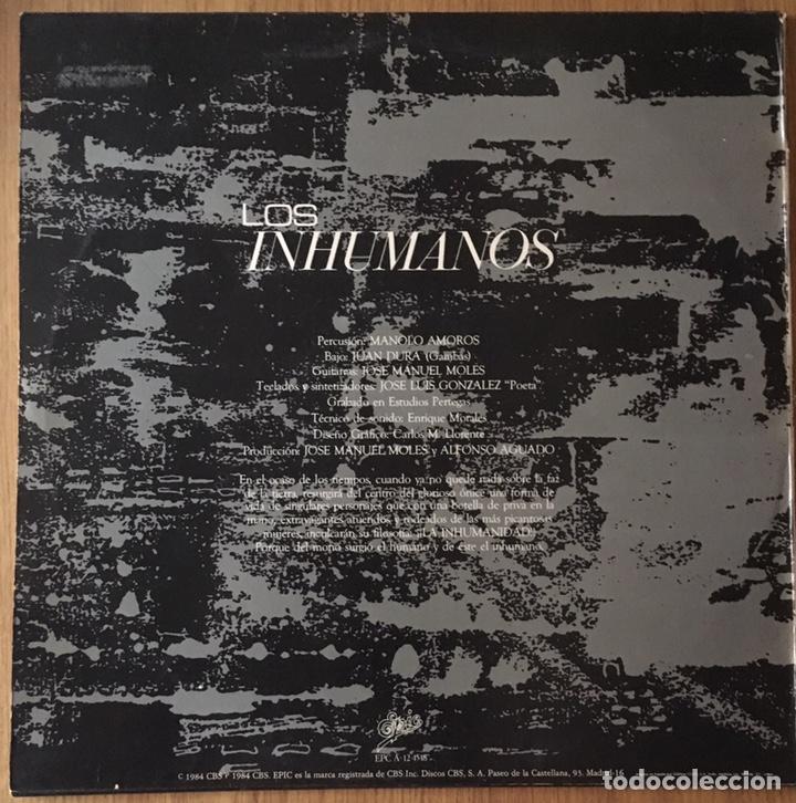 Discos de vinilo: LOS INHUMANOS MAXI SINGLE ERES UNA FOCA AÑO 1984 - Foto 2 - 148192926