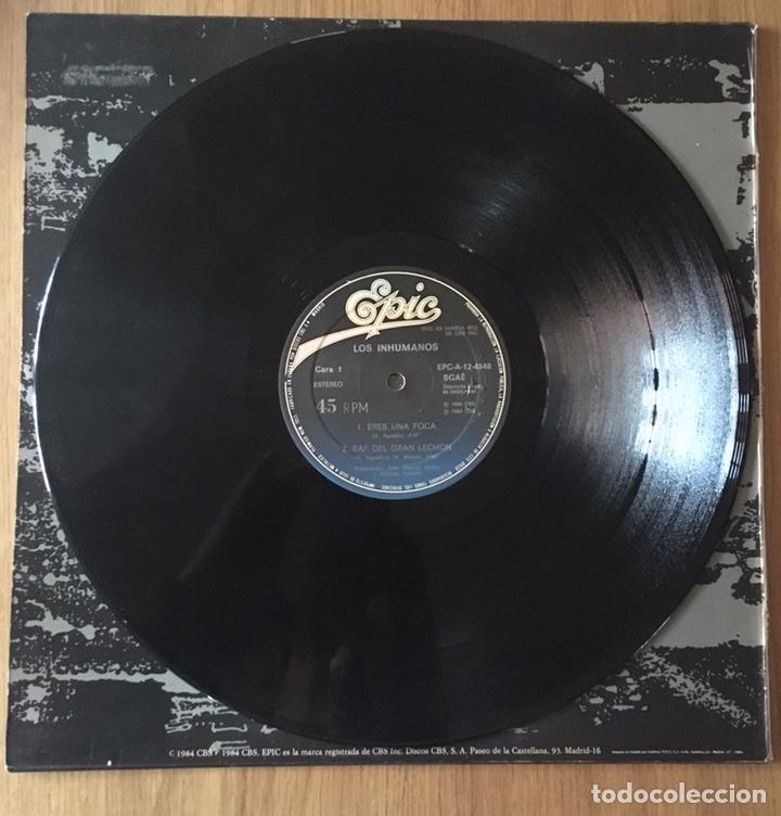 Discos de vinilo: LOS INHUMANOS MAXI SINGLE ERES UNA FOCA AÑO 1984 - Foto 3 - 148192926