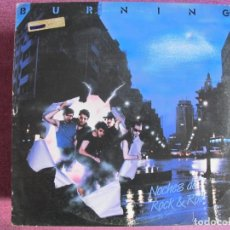 Discos de vinilo: LP - BURNING - NOCHES DE ROCK AND ROLL (SPAIN, DISCOS BELTER 1984, CONTIENE ENCARTE). Lote 148203474