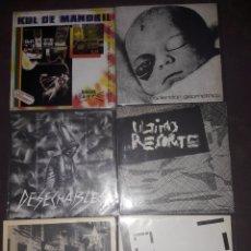 Discos de vinilo: 6 SINGLES VINILO.LA MOVIDA MADRILEÑA.KUL DE MANDRIL.ESPLENDOR GEOMETRICO.ULTIMO RESORTE.DESECHABLES. Lote 147195100