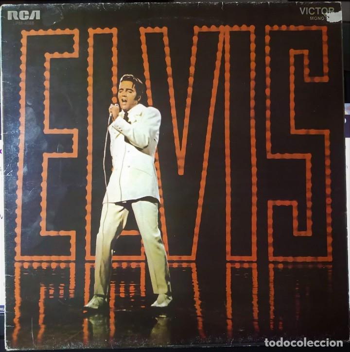 ELVIS PRESLEY GRABADO EN DIRECTO PROGRAMA ESPECIAL TV NBC - LP - ESPAÑA 1987 - LINEATRES (Música - Discos - LP Vinilo - Rock & Roll)