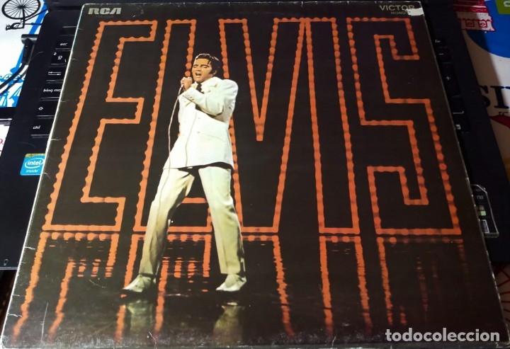 Discos de vinilo: ELVIS PRESLEY GRABADO EN DIRECTO PROGRAMA ESPECIAL TV NBC - LP - ESPAÑA 1987 - LINEATRES - Foto 2 - 148162022