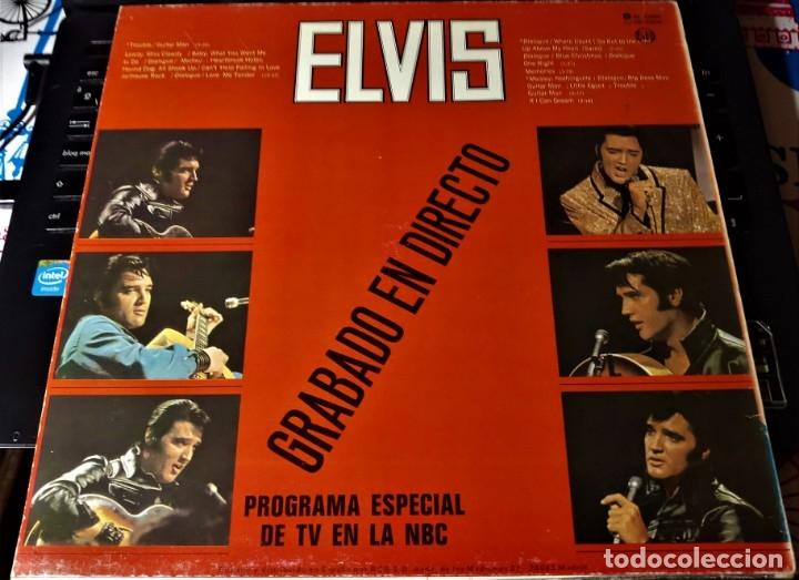 Discos de vinilo: ELVIS PRESLEY GRABADO EN DIRECTO PROGRAMA ESPECIAL TV NBC - LP - ESPAÑA 1987 - LINEATRES - Foto 3 - 148162022