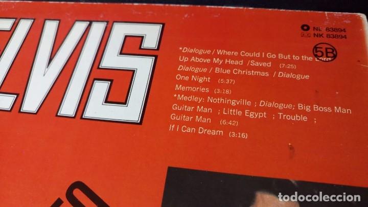 Discos de vinilo: ELVIS PRESLEY GRABADO EN DIRECTO PROGRAMA ESPECIAL TV NBC - LP - ESPAÑA 1987 - LINEATRES - Foto 4 - 148162022