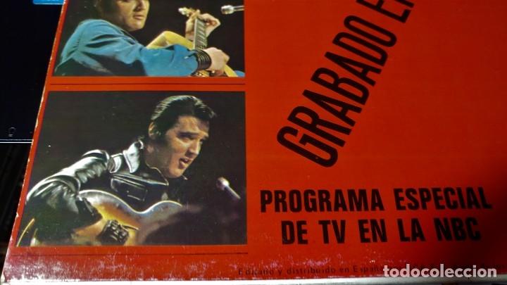 Discos de vinilo: ELVIS PRESLEY GRABADO EN DIRECTO PROGRAMA ESPECIAL TV NBC - LP - ESPAÑA 1987 - LINEATRES - Foto 5 - 148162022