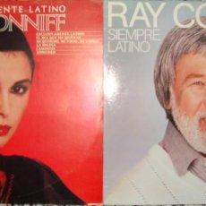 Discos de vinilo: RAY CONNIFF. EXCLUSIVAMENTE LATINO + SIEMPRE LATINO.. Lote 148218102