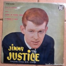 Discos de vinilo: JIMMY JUSTICE, AIN'T THAT FUNNY , ONE, WHEN MY LITTLE GIRL IS SMILING + . Lote 148235014