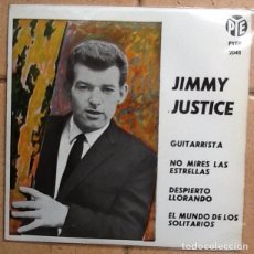 Discos de vinilo: JIMMY JUSTICE, THE GUITAR PLAYER , I WAKE UP CRYING, +2. Lote 148235354